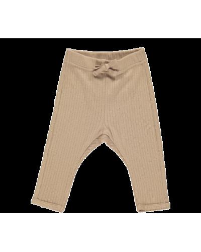 Pitti modal pointelle rib bukser creamy nougat