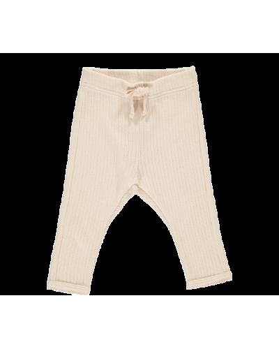 Pitti modal pointelle rib bukser peach cream