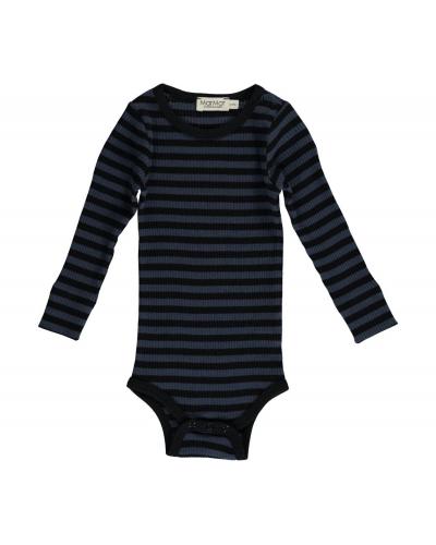 Plain Body LS Modal Stripes Black/Blue