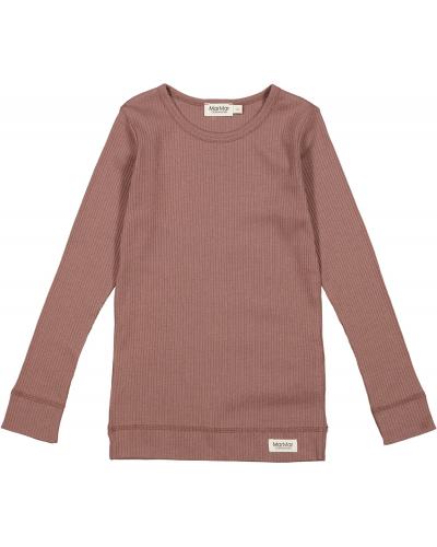 Plain T-shirt LS Modal Madeira Rose