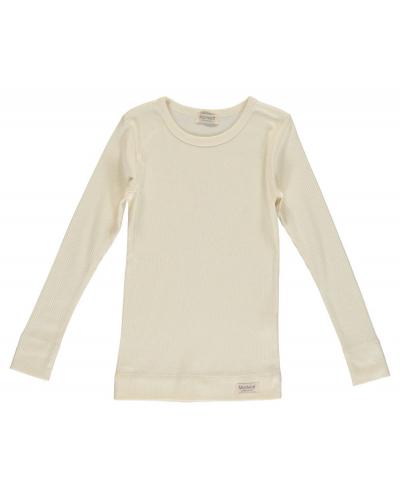 Plain T-shirt LS Modal Off White