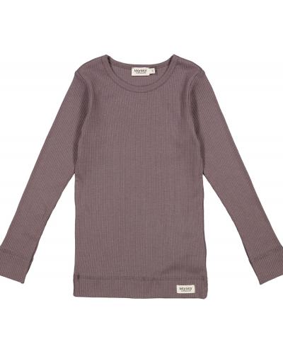 Plain T-shirt LS Modal Plum