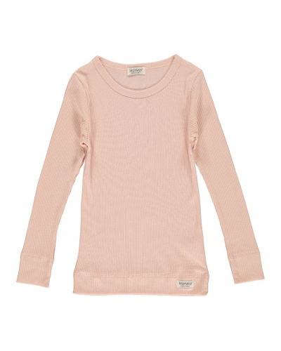 Plain T-shirt LS Modal Rose