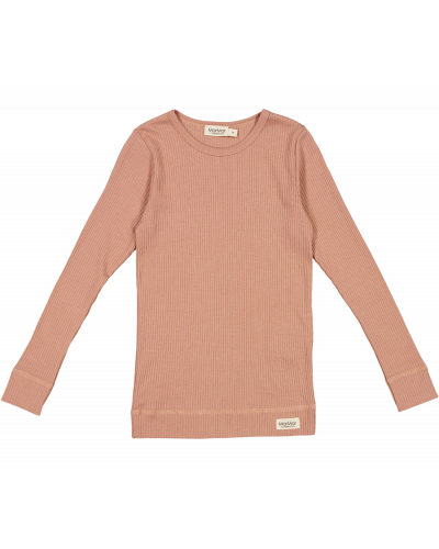 Plain T-shirt LS Rose Brown