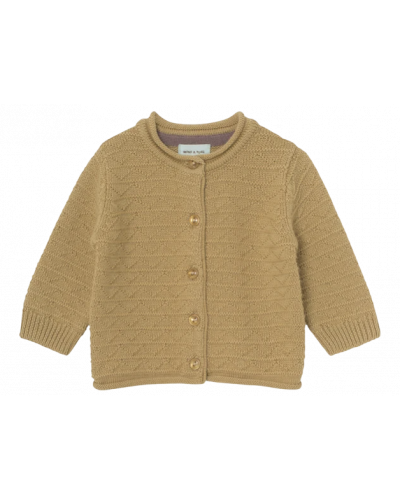 Adelina Cardigan i merinould - Sweet Curry