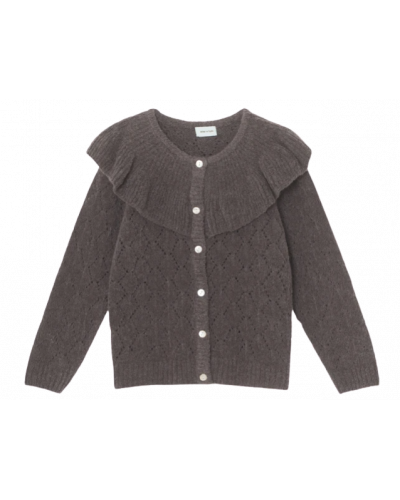 Diann Cardigan Rabbit Plum