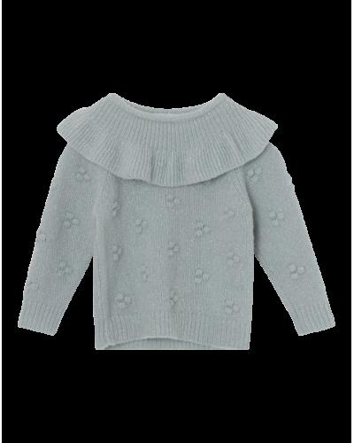 Mini A Ture Daisi Strik Bluse Puritan Grey