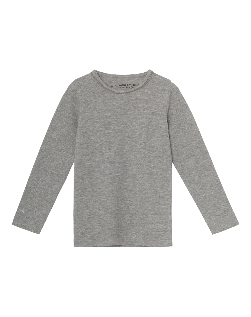 Elga Langærmet Bluse Light Grey
