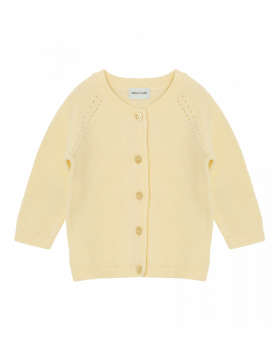 Mini A Ture Manilla Cardigan Yellow Anise Flower