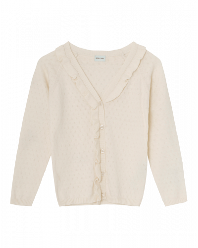 Mini A Ture Sjanne Cardigan Antique White