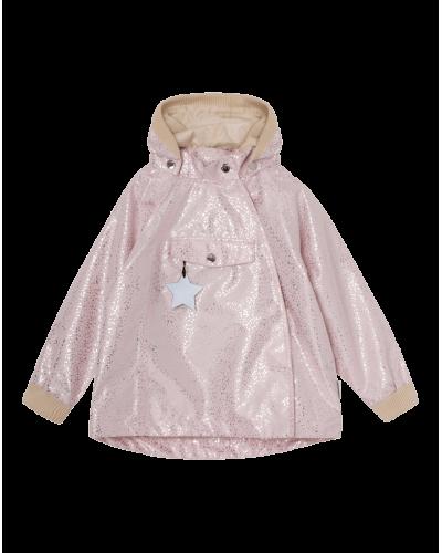 Mini A Ture Wai Jakke Blushing Pink Silver Dots