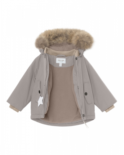 Mini A Ture Wally Fur Jakke Cloudburst Grey