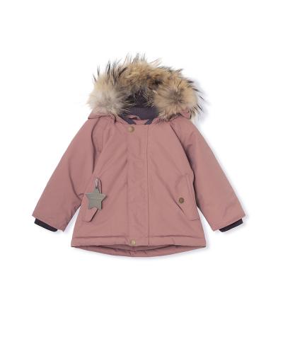 Wally Fur Jacket Wood Rose