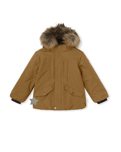 Welias Fur Jacket Rubber Brown