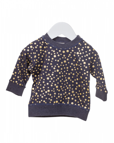 Bluse Navy Gold Dots