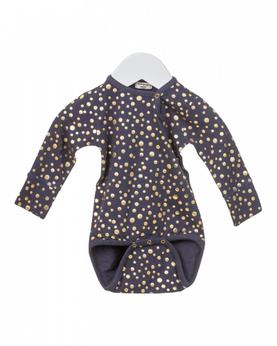 MiniPop Body Navy Gold Dots