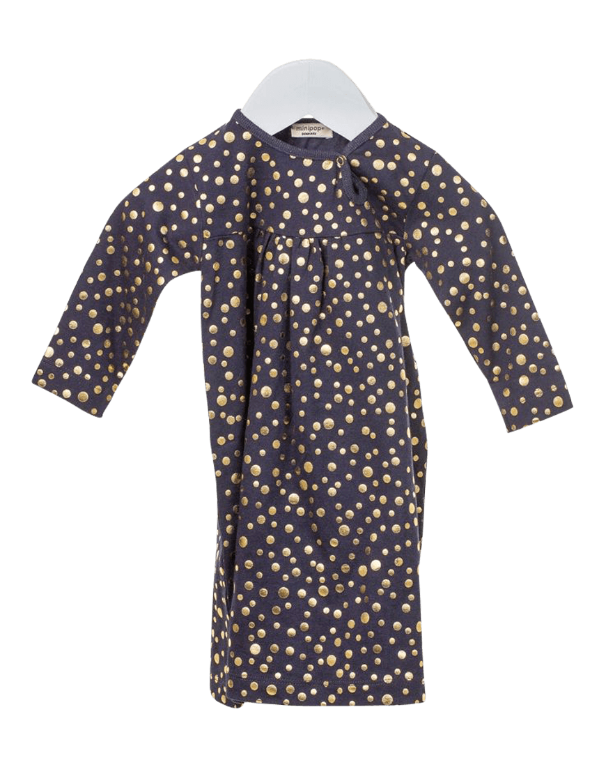 Kjole Navy Gold Dot