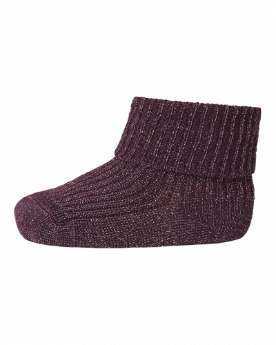 MP Denmark Ankelstrømpe Bamboo/Metallic Bordeaux 59014-843