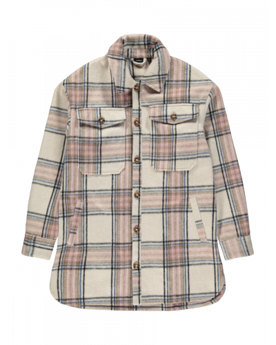 Deayay Check Overshirt Marron