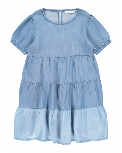 Fathit Denim Kjole Medium Blue