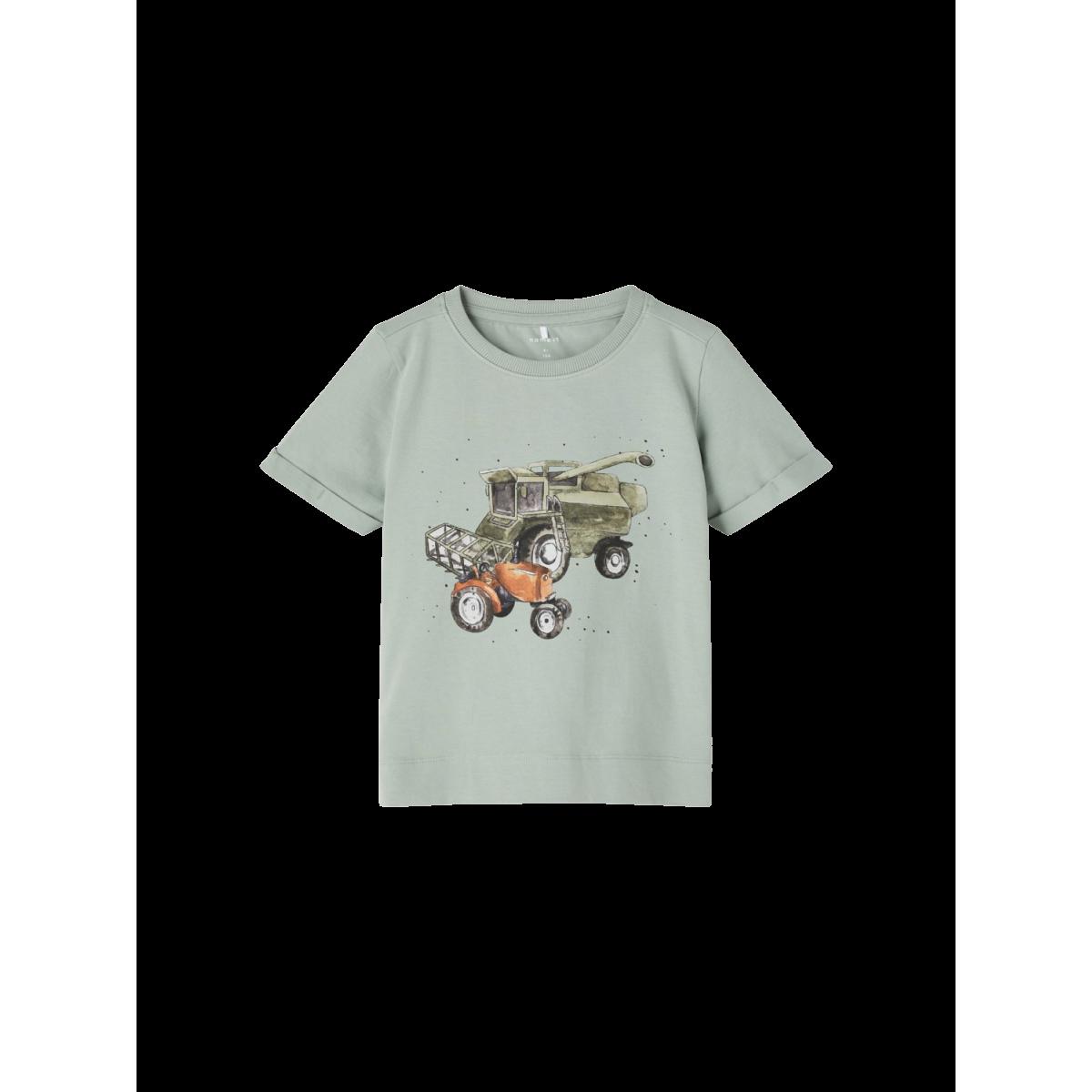 Febnu SS T-shirt Iceberg Green