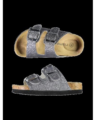Jerali Sandal Silver Colour Glitter