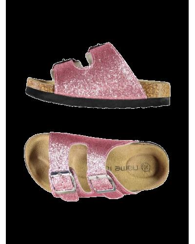 Jerali Sandal Pink Peacock Glitter