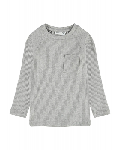 Kabille langærmet bluse Grey Melange