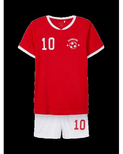 Kortærmet fodboldsæt DK True Red