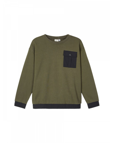 LS Boxy Sweatshirt Forest Night