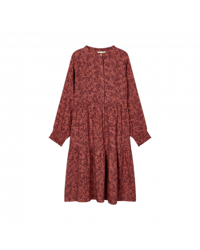 LS Midi Dress Withered Rose