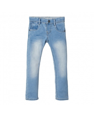 Lysblå denim buks
