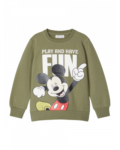Mickey Sweatshirt Deep Lichen Green