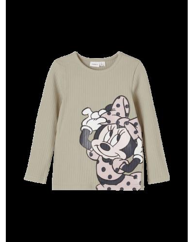 Minnie Mouse langærmet Grøn / Silver Sage