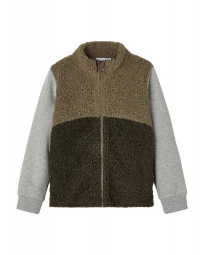 Molan LS Teddy Sweatshirt Stone Gray