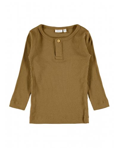 NMMKABILLE LS SLIM TOP T-Shirts & Tops Cumin