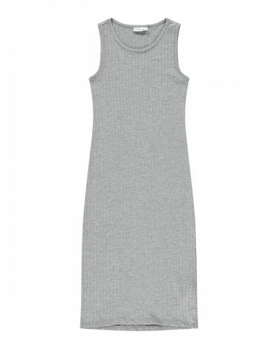 Nola SL Maxi Kjole Grey Melange