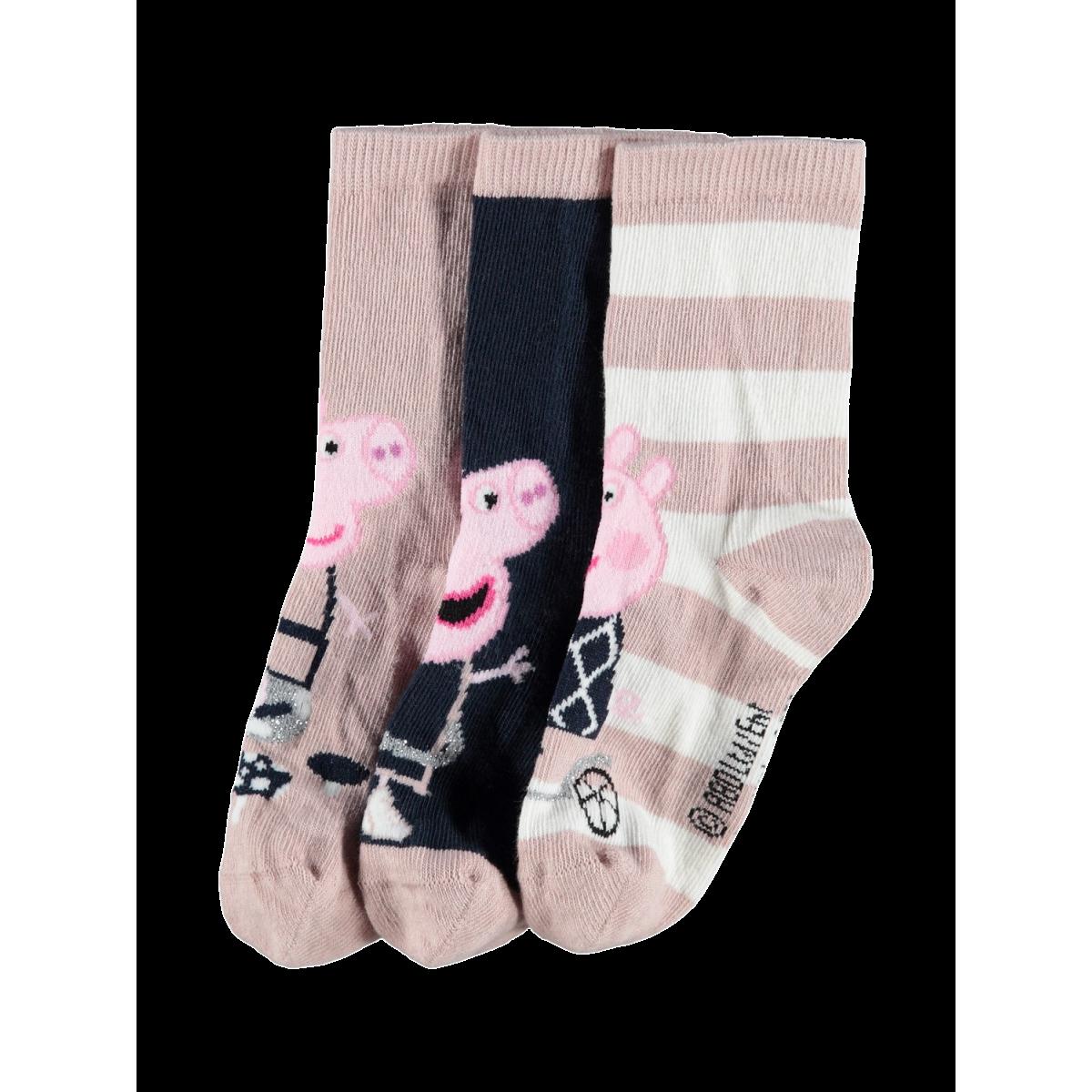 Peppa Pig Jamilla 3-Pack Strømper Adobe Rose
