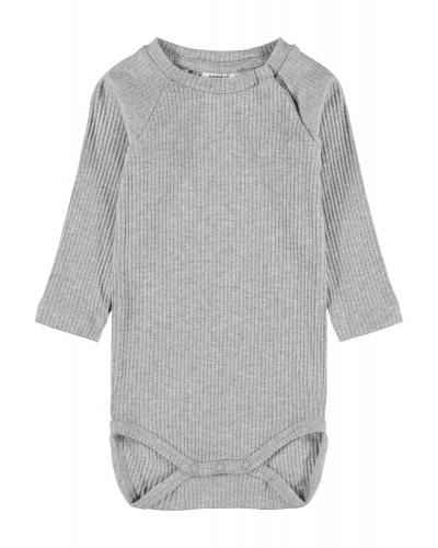 Ribbet body Grey Melange