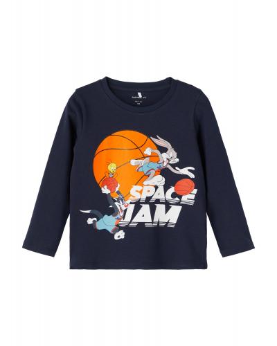 Space Jam Arne LS Langærmet T-shirt Dark Sapphire