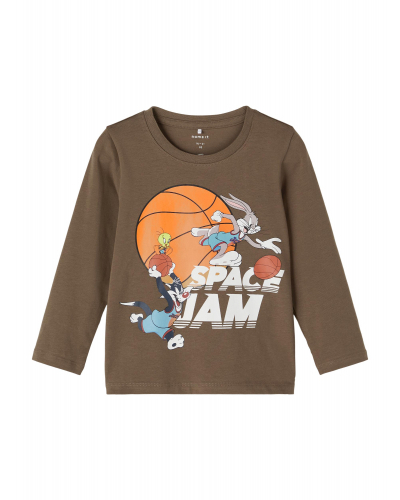 Space Jam Arne LS Langærmet T-shirt Stone Gray
