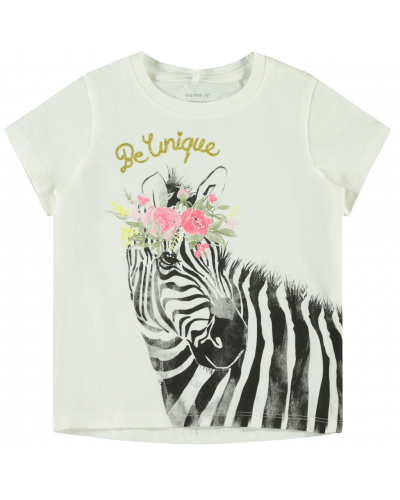 t-shirt bright white zebra