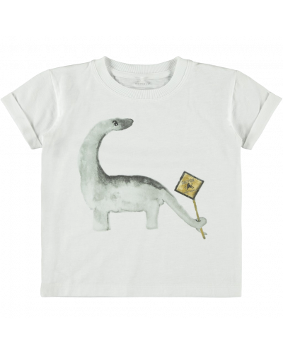 T-shirt m. Dino bright white
