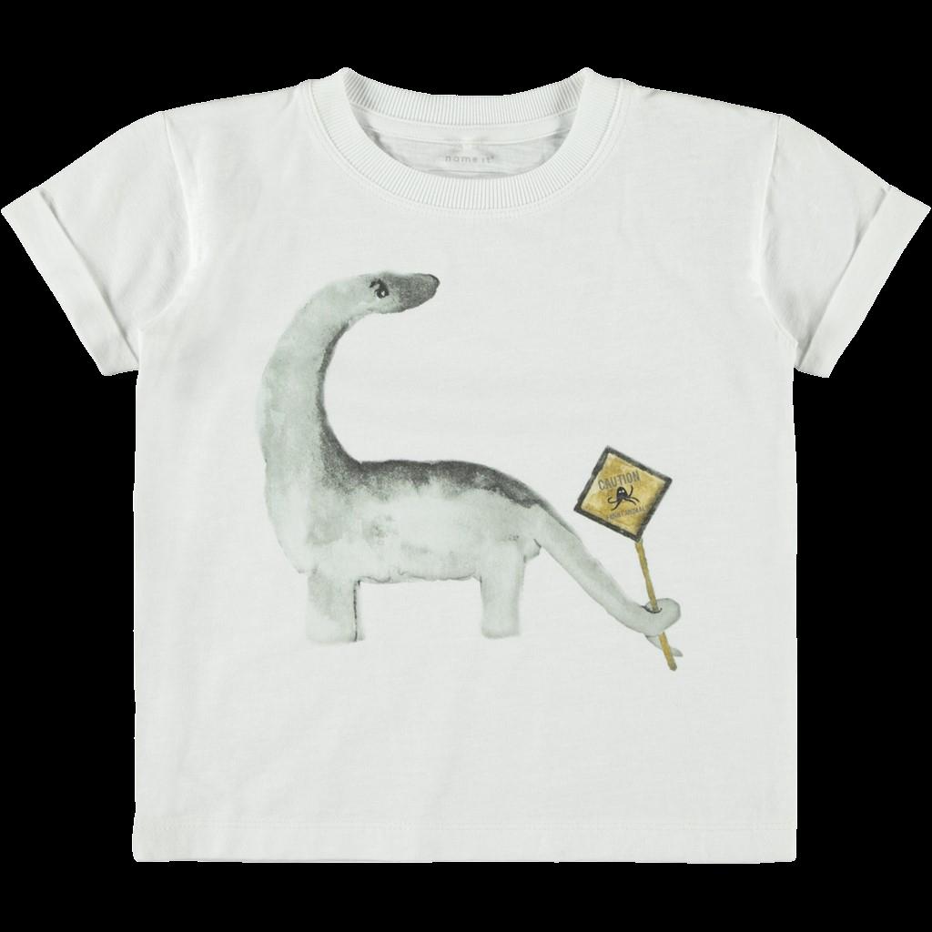 T-shirt m. Dino bright white