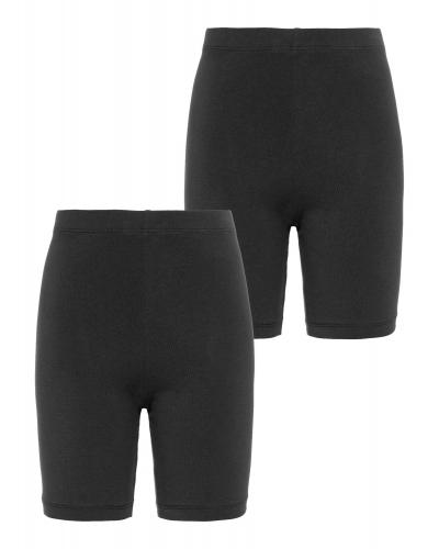 Vivian 2P Solid Short Leggings NOOS Black
