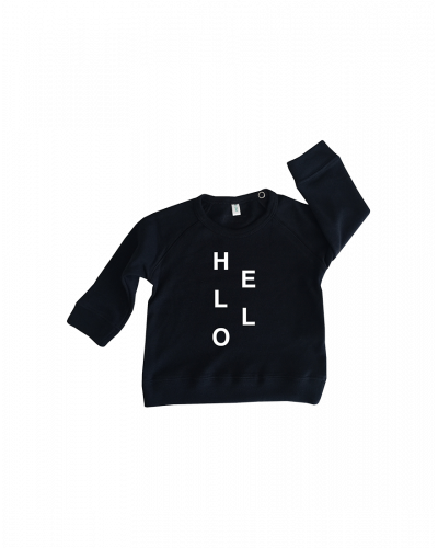 Organic Zoo Sweatshirt Navy Hello