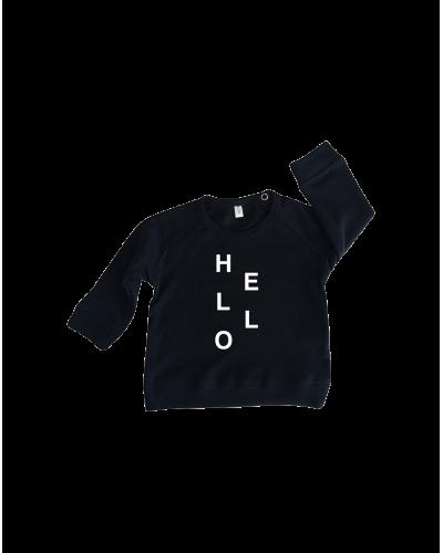Sweatshirt Navy Hello