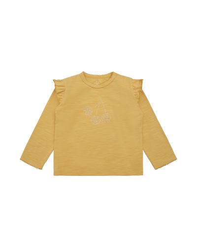 Langærmet T-shirt Elenor Yellow