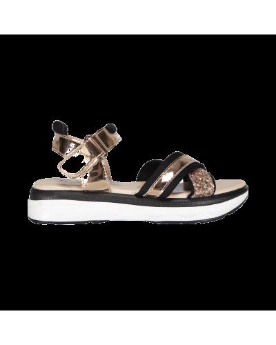 sandal black/rosagold
