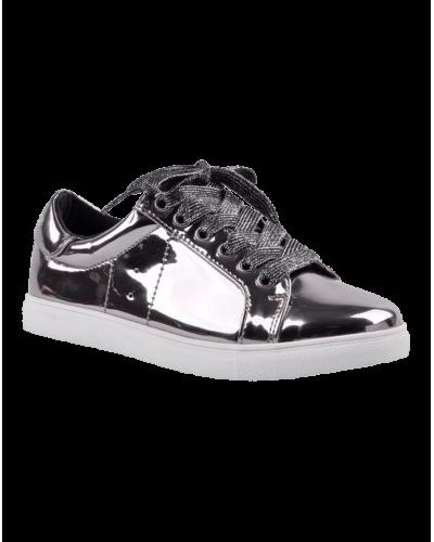 Sneakers Metallic Silver